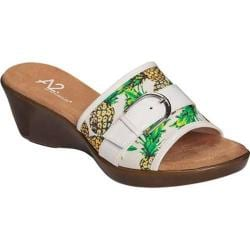 Women's A2 by Aerosoles Eyes On You White Pineapple Printed Canvas