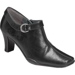 Women's Aerosoles Cingle Handed Bootie Black Faux Leather