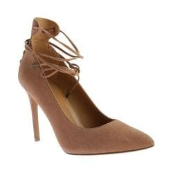 Women's Nine West Ebba Lace up Pump Light Natural/Light Natural Leather