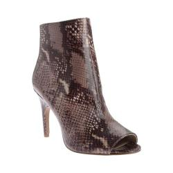 Women's Nine West Shiso Open Toe Bootie Dark Natural Multi Synthetic