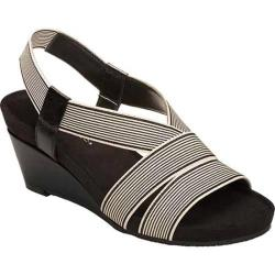 Women's Aerosoles Light Rail Black Stripe Elastic