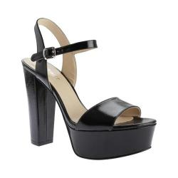 Women's Nine West Carnation Platform Sandal Black Synthetic