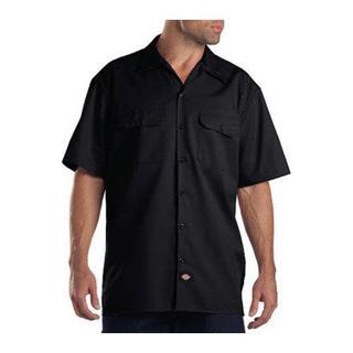 Men's Dickies Short Sleeve Work Shirt Black
