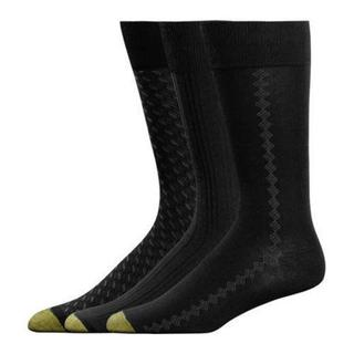 Men's Black Gold Toe Rayon from Bamboo Fashion Pack 2056S (12 Pairs)