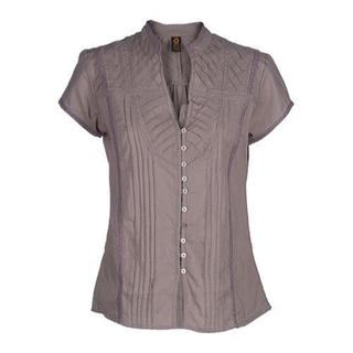 Women's Ojai Clothing Breezy Button Down Opal Grey