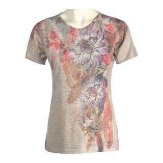 Women's Ojai Clothing Burnout Crewneck Coral Feathers