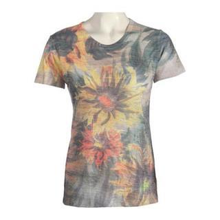 Women's Ojai Clothing Burnout Crewneck Sunflowers