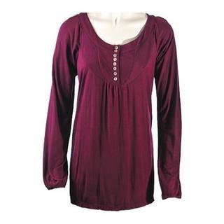 Women's Ojai Clothing Comfy Long Top Plum Purple