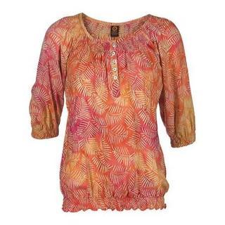 Women's Ojai Clothing Easy Henley Tangerine