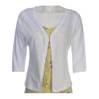 Women's Ojai Clothing Slub Cardigan White