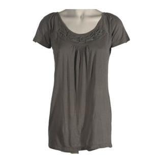 Women's Ojai Clothing Travel Dove Grey Ethnic Top