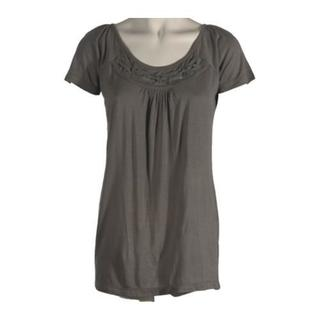Women's Ojai Clothing Travel Dove Grey Ethnic Top