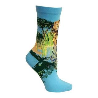 Women's Ozone Lion Crew Sock (2 Pairs) Blue