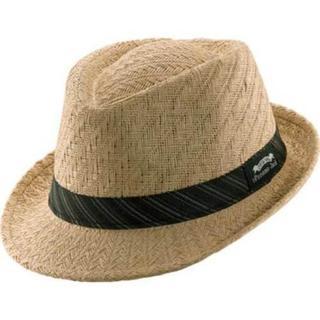 Men's Panama Jack Fedora w/Striped Band Sand. Opens flyout.