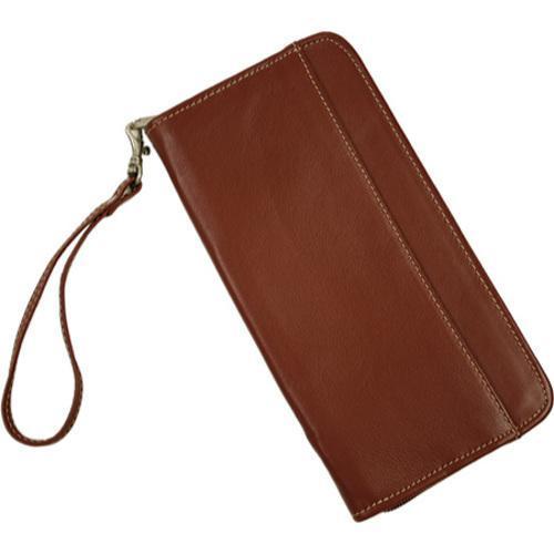Shop Piel Leather Zippered Red Passport Ticket Holder