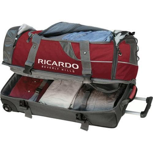 Essentials Red 30 Inch Rolling Duffel