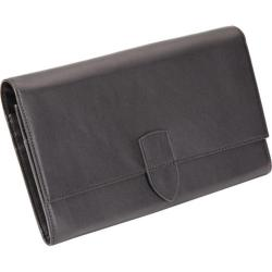 Royce Leather Diplomat Black Passport Wallet