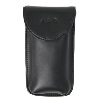 Royce Leather Double Eyeglass Case 603-6 Black Leather