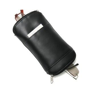 Royce Leather Deluxe Double Black Eyeglass Case
