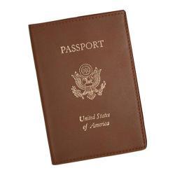 Royce Leather Foil Stamped RFID Blocking Passport Jacket 202-5 Tan