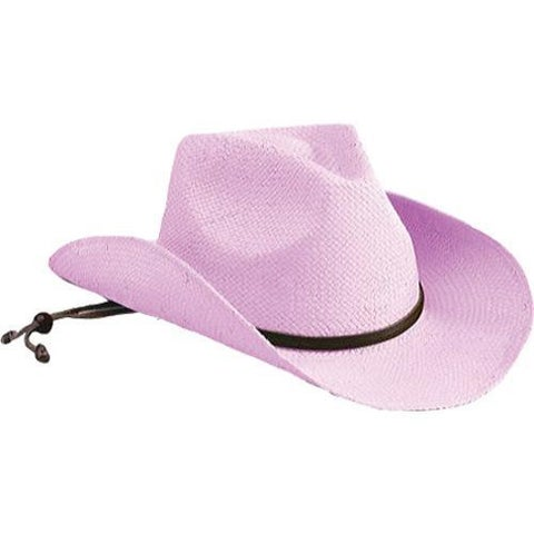 Girls San Diego Hat Company Light Pink Cowboy Hat