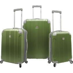 Beverly Hills Country Club Malibu 3-Piece Hardside Spinner Luggage Set Green