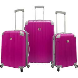 Beverly Hills Country Club Malibu 3-Piece Hardside Spinner Luggage Set Magenta