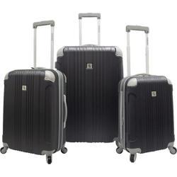 Beverly Hills Country Club Malibu 3-Piece Hardside Spinner Luggage Set Grey