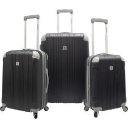 Beverly Hills Country Club Malibu 3-Piece Hardside Spinner Luggage Set Grey