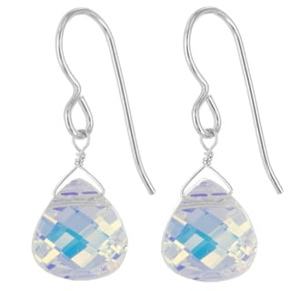 Austrian Crystal Rainbow Crystal Sterling Silver Handmade Earrings by Ashanti (Sri Lanka)