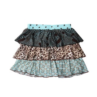 Ola Lola Girls Multi-print Tiered Skirt