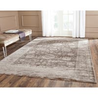 Safavieh Vintage Oriental Brown/ Ivory Distressed Rug - 6'7 x 9'2