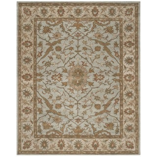 Safavieh Handmade Heritage Timeless Traditional Light Blue/ Ivory Wool Rug (6' x 9')