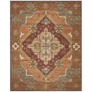 Safavieh Handmade Heritage Timeless Traditional Rust Wool Rug (6' x 9')