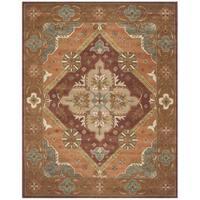 Safavieh Handmade Heritage Timeless Traditional Rust Wool Rug - 6' x 9'