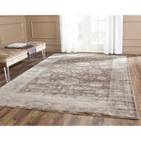 Safavieh Vintage Oriental Brown/ Ivory Distressed Rug (5'1 x 7'7)