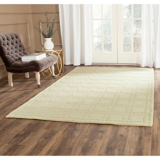 Safavieh Handmade Impressions Lime Wool Rug (5' x 8')
