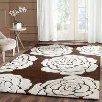 Safavieh Handmade Cambridge Brown/ Ivory Wool Rug (5' x 8')