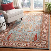 Safavieh Handmade Heritage Timeless Traditional Blue/ Ivory Wool Rug - 2' X 3'