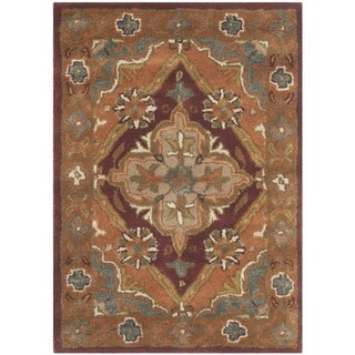 Safavieh Handmade Heritage Timeless Traditional Rust Wool Rug (2' x 3')