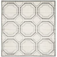 Safavieh Amherst Indoor/ Outdoor Ivory/ Light Grey Rug - 7' Square
