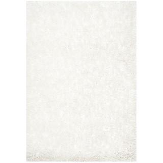 Safavieh Handmade South Beach Shag Snow White Polyester Rug (2' x 3')