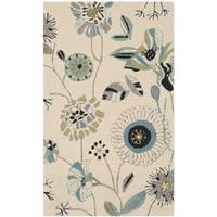 Safavieh Hand-Hooked Four Seasons Floral Ivory / Blue Polyester Rug - 2' x 3'