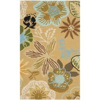 Safavieh Hand-Hooked Four Seasons Taupe/ Multicolored Rug - 2'6 x 4'
