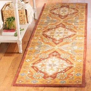 Safavieh Handmade Heritage Timeless Traditional Rust Wool Rug (2'3 x 8')