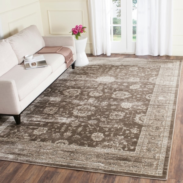 Safavieh Vintage Oriental Brown/ Ivory Distressed Rug - 9' x 12'
