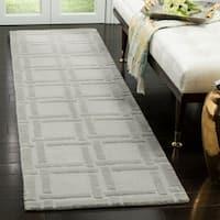 Safavieh Handmade Impressions Grey Wool Rug - 2'3 x 8'