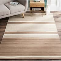 Safavieh Hand-Woven Kilim Brown/ Ivory Wool Rug - 4' x 6'