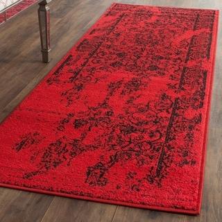 Safavieh Adirondack Vintage Overdyed Red/ Black Rug (2'6 x 8')
