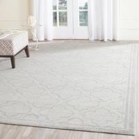 Safavieh Indoor/ Outdoor Amherst Ivory/ Light Grey Rug (9' x 12')
